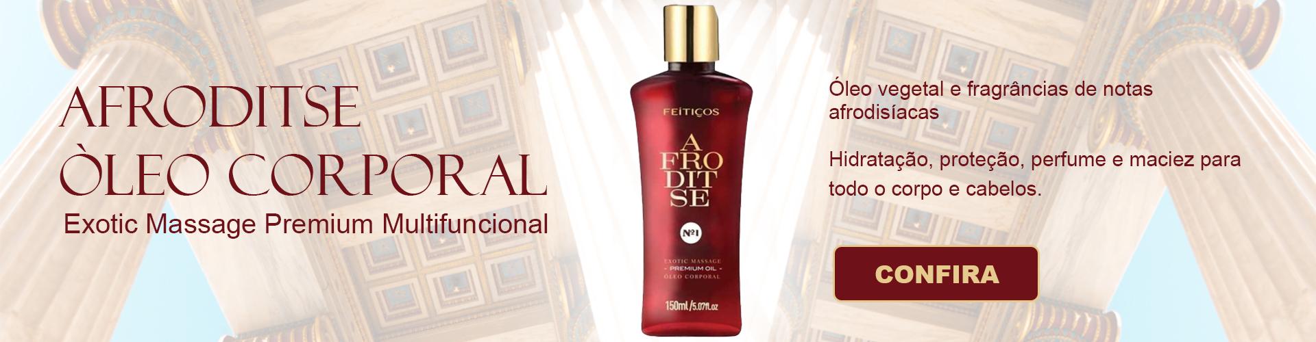 Produto Afroditse oleo exotico para massagem