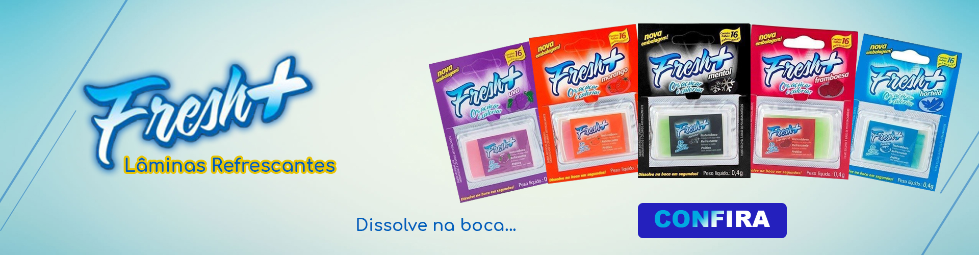 Produto Fresh + laminas refrescantes - Gall