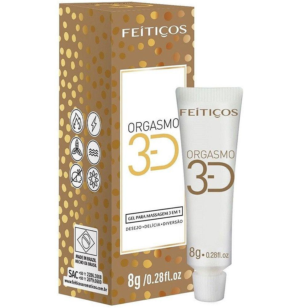 Orgasmo 3D gel para massagem 3 em 1